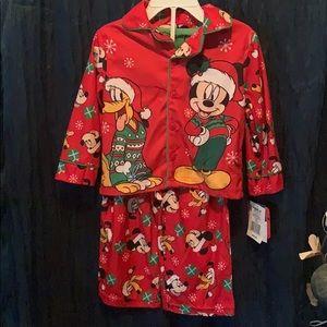 Mickey Mouse two piece 2T new Christmas pajamas